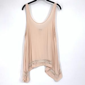 Intimately Free People Pink Lace Tank Top